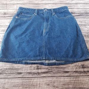 Calvin Klein Denim Jean Mini Skirt Medium Wash